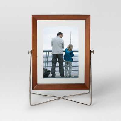 Easel Single Image Frame 5x7 - Wood/Silver - Project 62 - Target