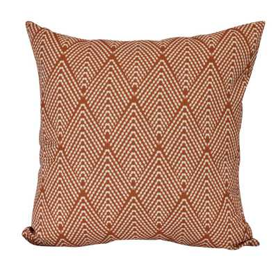 E by Design 16 in. Lifeflor Geometric Print Decorative Pillow, Oranges/Peaches - Home Depot