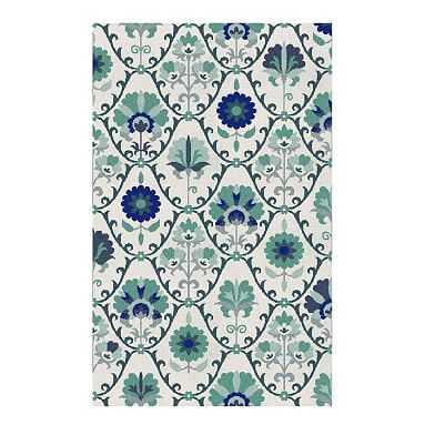 Boho Floral Rug, 5'x8', Pool - Pottery Barn Teen