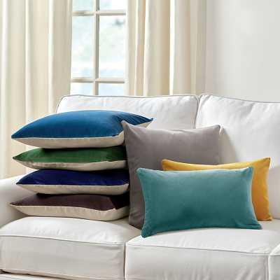 """Ballard Designs Signature Velvet & Linen Pillow Emerald 20"""" x20"""" - Ballard Designs"""