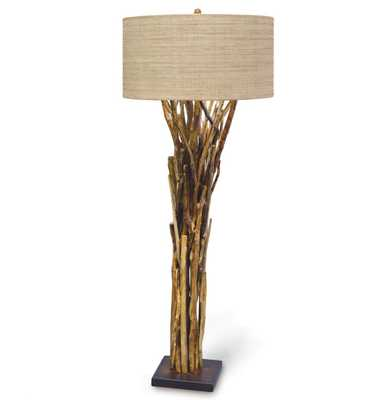 Palecek Natural Branch Lodge Bundled Branches Floor Lamp - 30 Inch Shade - Kathy Kuo Home