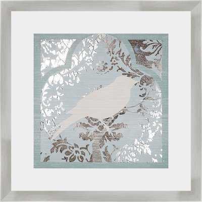 'Trellis Songbird I' Framed Graphic Art Print - Wayfair