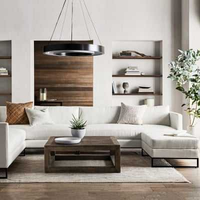 """Beaumont Coffee Table, 43X43"""", Wood, Shutter Grey - Williams Sonoma"""