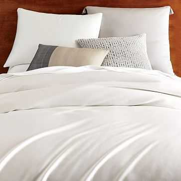 Tencel Duvet Cover, King, Stone White - West Elm