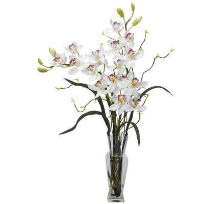 Orchids Floral Arrangement in Vase - Birch Lane
