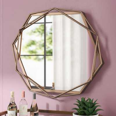 Dekalb Iron Hexagonal Wall Accent Mirror - Wayfair