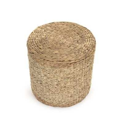 Ahlers Woven Cylinder Accent Stool - Birch Lane