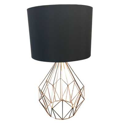 EGLO Pedregal 1 25 in. Gold Table Lamp - Home Depot