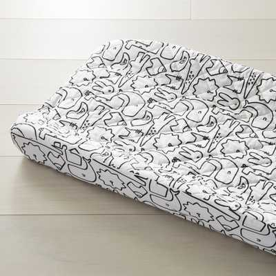 Black and White Animal Changing Pad Cover - Crate and Barrel