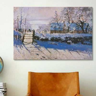 'The Magpie' by Claude Monet Painting Print on Canvas - Wayfair