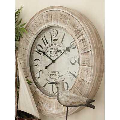 Siciliano Wall Clock - Birch Lane
