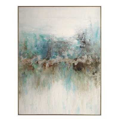 'Mountain Top' Framed Watercolor Painting Print on Canvas - Wayfair