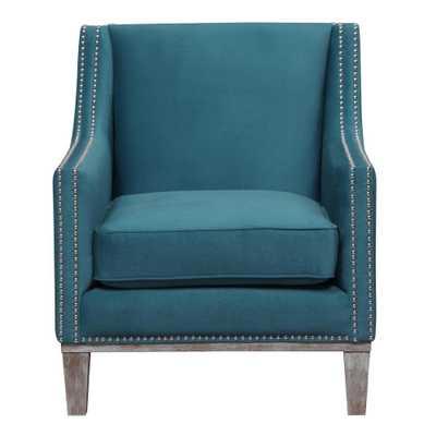 Element International Aster Teal (Blue) Accent Chair - Home Depot