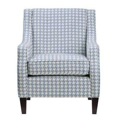 Accent Chair, Blue Pattern Fabric - Wayfair