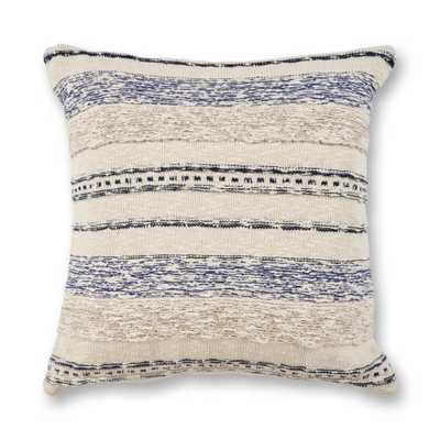 Ivory/Blue Juno 20 in. x 20 in. Decorative Pillow - Home Depot