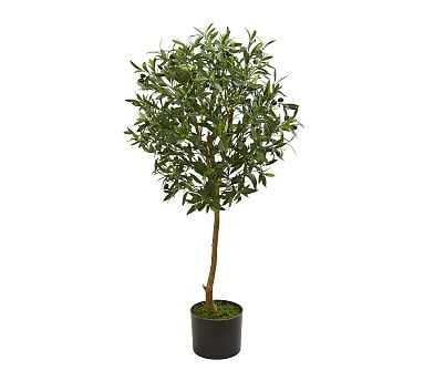 Faux Thin Trunk Olive Tree, 3.5' - Pottery Barn