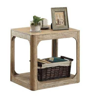 Ridley Lower Shelf Wooden End Table - Wayfair