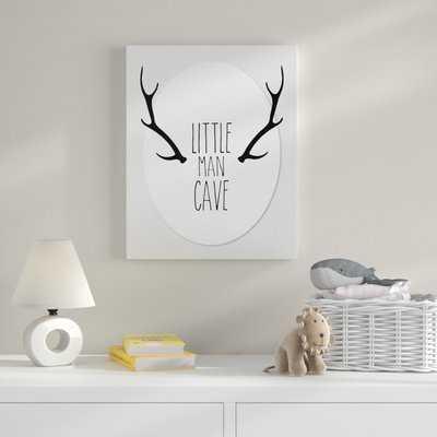 'Little Man Cave Antlers' Textual Art - Wayfair
