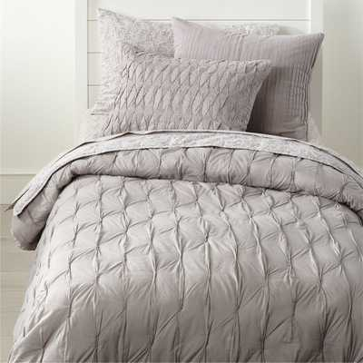 Chic Grey Twin Quilt - Crate and Barrel