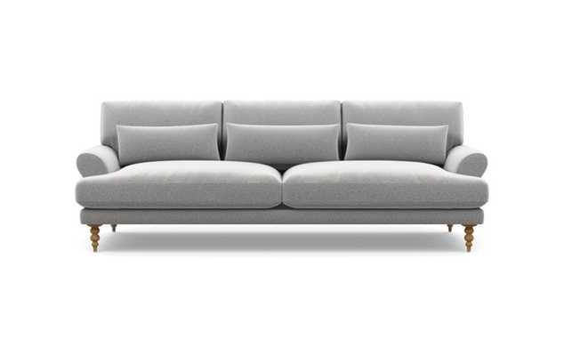 Maxwell Sofa with Grey Ash Fabric and Natural Oak legs - Interior Define