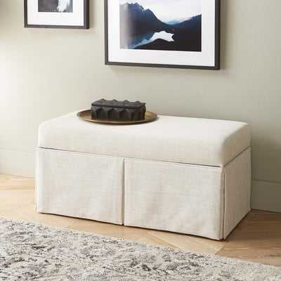 Arbor Glen Linen Wood Skirted Storage Bench - Wayfair