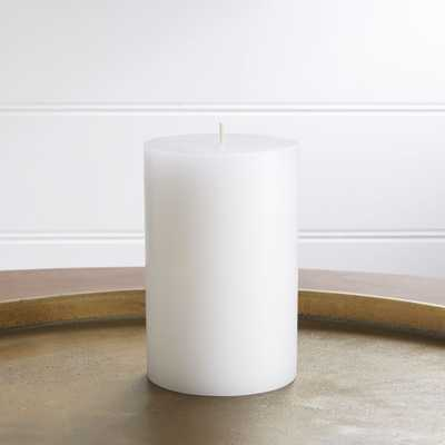 """4""""x6"""" White Pillar Candle - Crate and Barrel"""