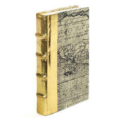 Liska Single Gold/Gray Paper Metallic Gold Book - Wayfair
