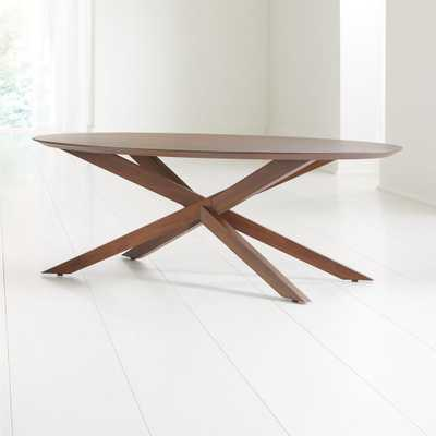 Apex Oval Coffee Table - Crate and Barrel
