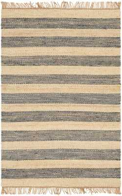 "Whitney Stripe Rug, 8'x 10"", Navy - Cove Goods"
