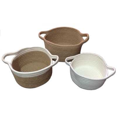 3 Piece Jute Basket Set - Wayfair