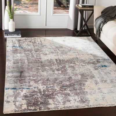 Mckeel Distressed Abstract Gray/Cream Area Rug - Wayfair