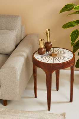 Brass Starburst Round Side Table - Anthropologie