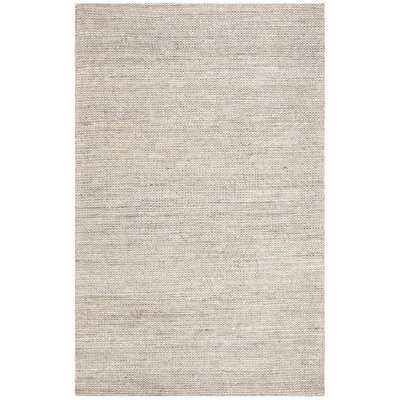 Burner Hand-Woven Light Gray 9' x 12' Area Rug - Wayfair