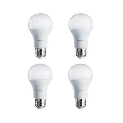 100-Watt Equivalent A19 LED Light Bulb Daylight (4-Pack) - Home Depot