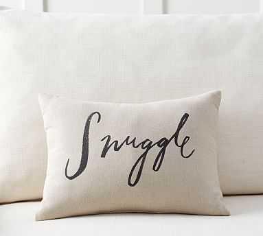 "Snuggle Sentiment Pillow, 12 x 16"", Neutral - Pottery Barn"