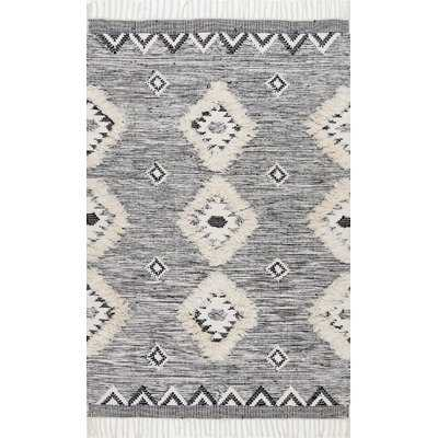 Cawley Hand-Knotted Wool Gray Area Rug - AllModern