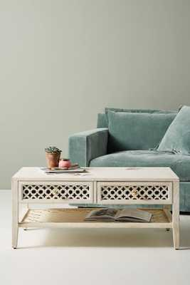 Jali-Carved Coffee Table - Anthropologie