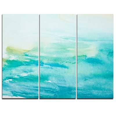 Abstract Sea Close - 3 Piece Painting Print on Wrapped Canvas Set - Wayfair