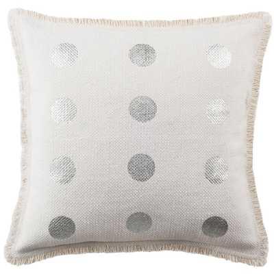 Metallic Dots Printed Patterns Pillow, White - Home Depot
