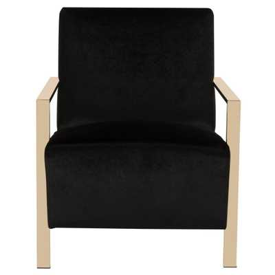 Safavieh Orna Black Accent Chair - Home Depot