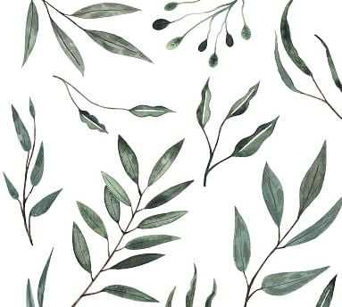 Watercolor Leaves Wall Decal - Pottery Barn