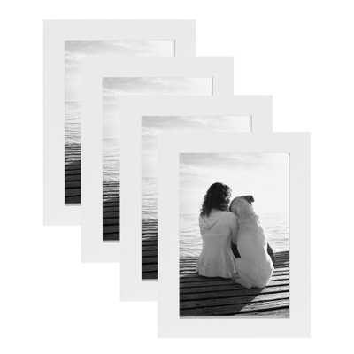 Gallery 4x6 White Picture Frame (Set of 4) - Home Depot