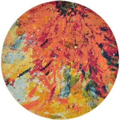 Roshan Orange Area Rug - Wayfair