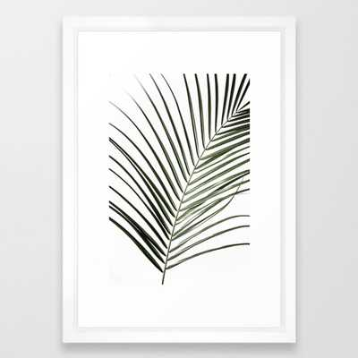 Palm Leaves 8 Framed Art Print by Maboe - Society6