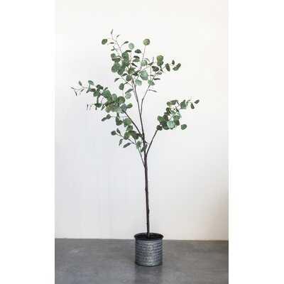 Faux Eucalyptus Tree in Planter - Wayfair