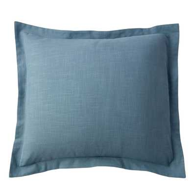 Asher Solid Sea Blue Cotton Euro Sham - Home Depot