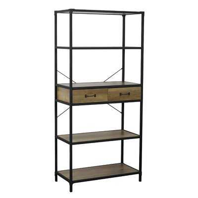 Karon Rustic 5 Tier Standard Bookcase - Wayfair