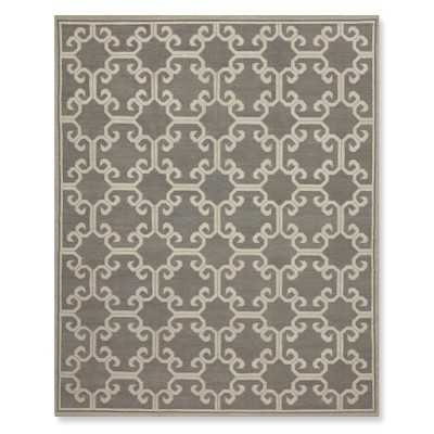 Iron Gate Flatweave Rug, 9x12', Steeple Gray - Williams Sonoma