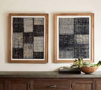 Framed Indigo Patchwork - Set of 2 - Pottery Barn