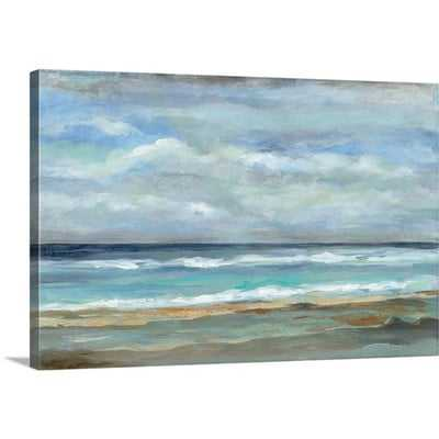 'Seashore' by Silvia Vassileva Painting Print on Canvas - Wayfair